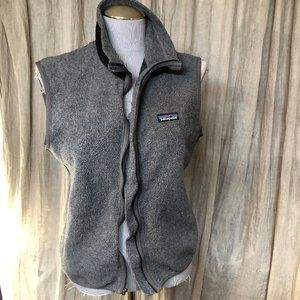 patagonia gray womens zip up vest M